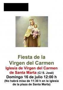Fiesta Virgen del Carmen cartel sm