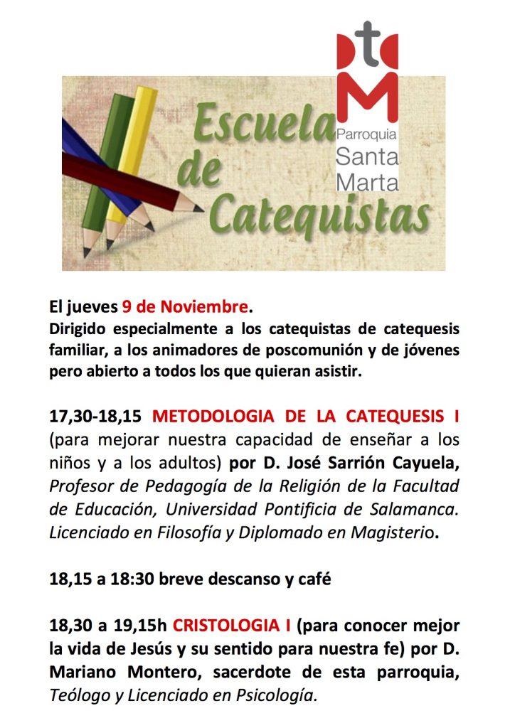 Cartel Formación de Catequistas